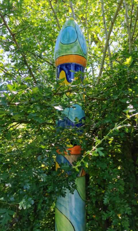 Keramiksäule im Garten von Guido Kratz aus Hannover