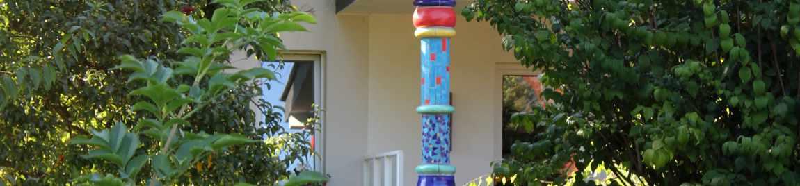 Keramiksäule von Guido Kratz aus Hannover