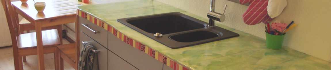 Küchenarbeitsplatte aus Keramik von Guido Kratz aus Hannover