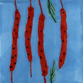 Küchenfliese Peperoni Blau von Guido Kratz