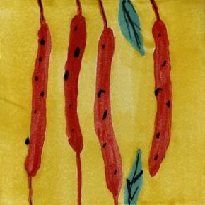 Küchenfliese Peperoni Gelb von Guido Kratz