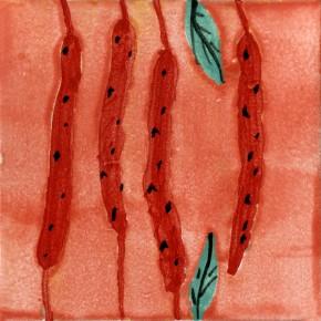 Küchenfliese Rukula rot von Guido Kratz