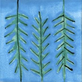 Küchenfliese Rukula blau von Guido Kratz