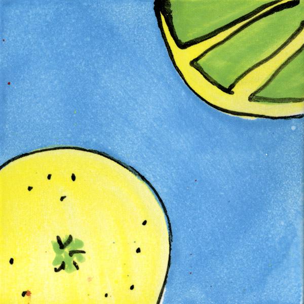 Küchenfliese Zitrone blau von Guido Kratz