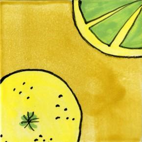 Küchenfliese Zitrone gelb von Guido Kratz