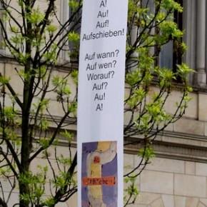 Kunstaktion Calenberger Neustadt von Guido Kratz und Maria Eilers aus Hannover