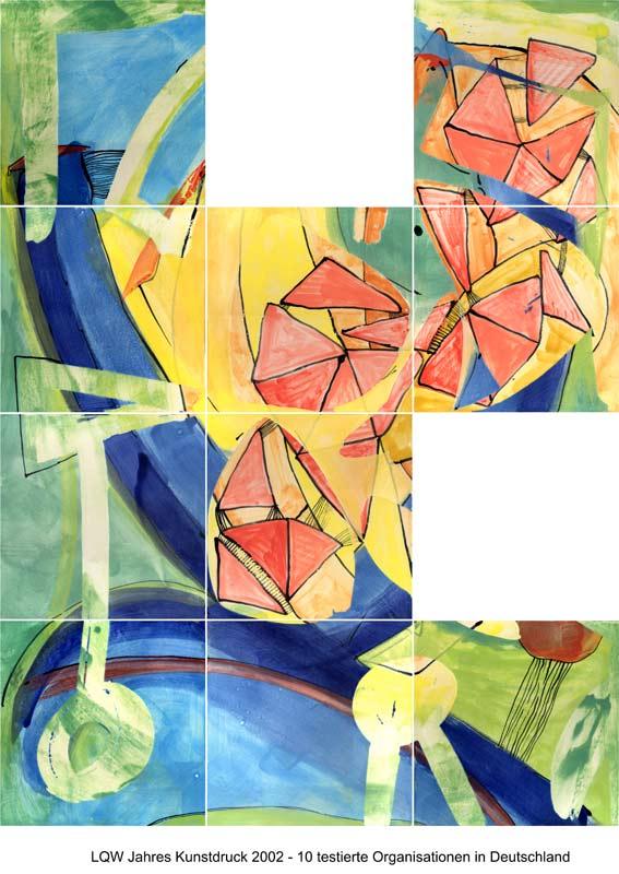 LQW Jahreskunstdruck 2002 von Guido Kratz-Keramik aus Hannover