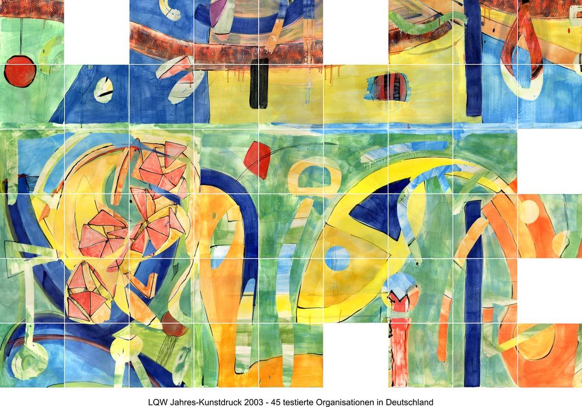 LQW Jahreskunstdruck 2003 von Guido Kratz-Keramik aus Hannover
