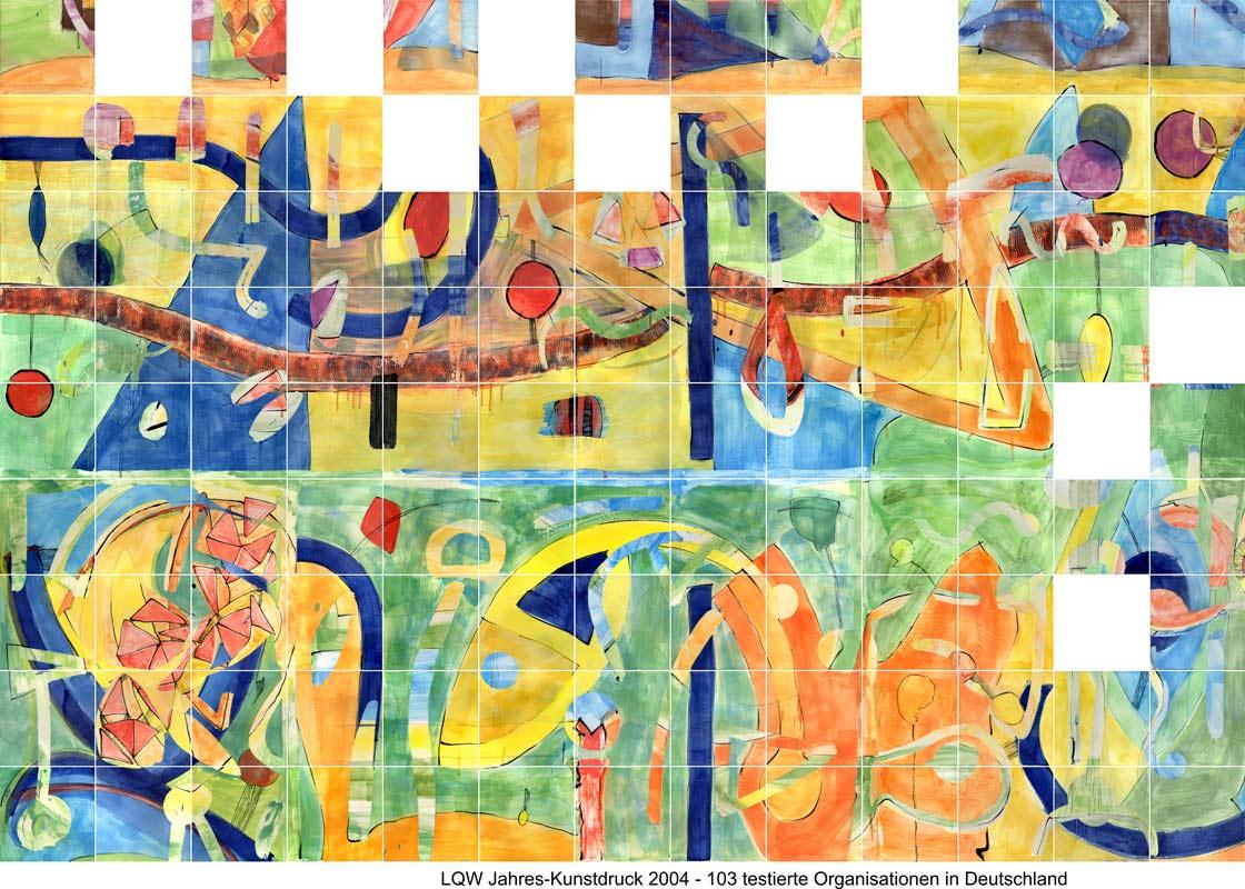 LQW Jahreskunstdruck 2004 von Guido Kratz-Keramik aus Hannover