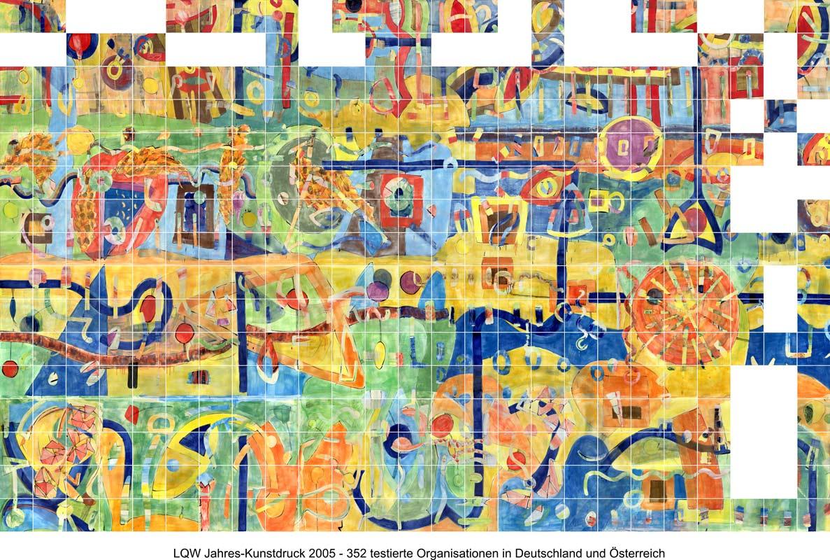 LQW Jahreskunstdruck 2005 von Guido Kratz-Keramik aus Hannover