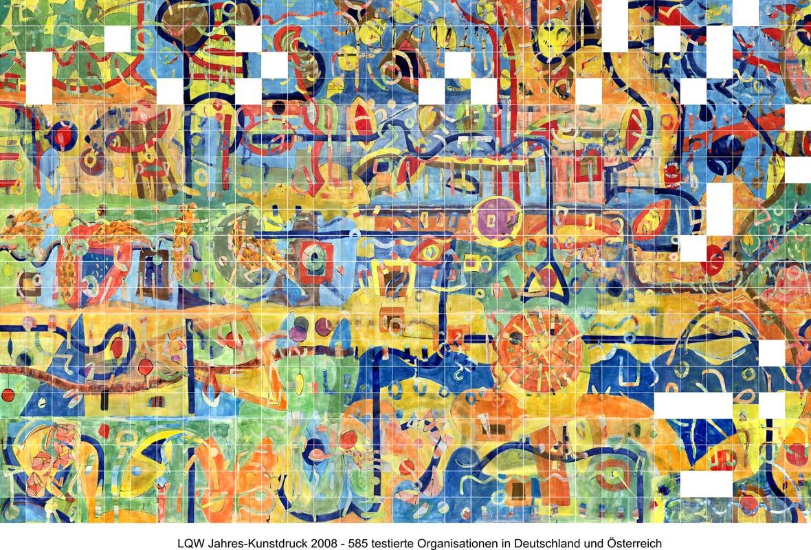 LQW Jahreskunstdruck 2008 von Guido Kratz-Keramik aus Hannover