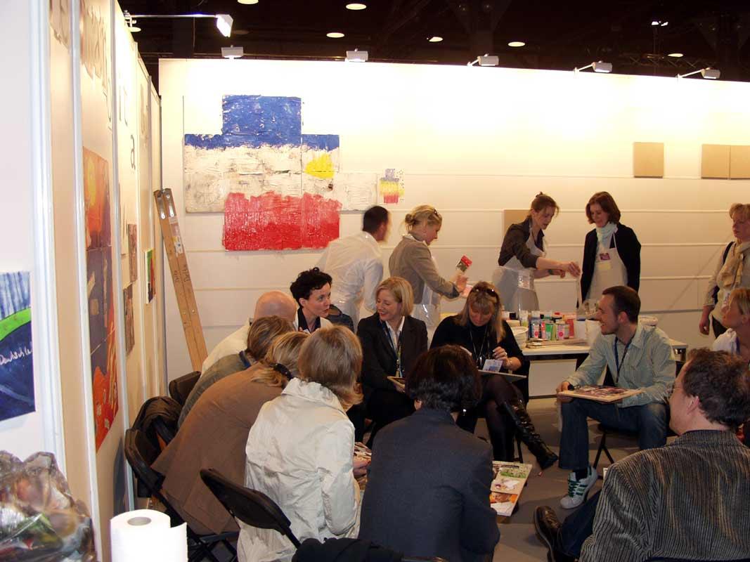 Netzwerkbild-Workshop, Teambildung, von Guido Kratz aus Hannover auf der Cabin Expo von der Lufthansa in Frankfurt Bild 03