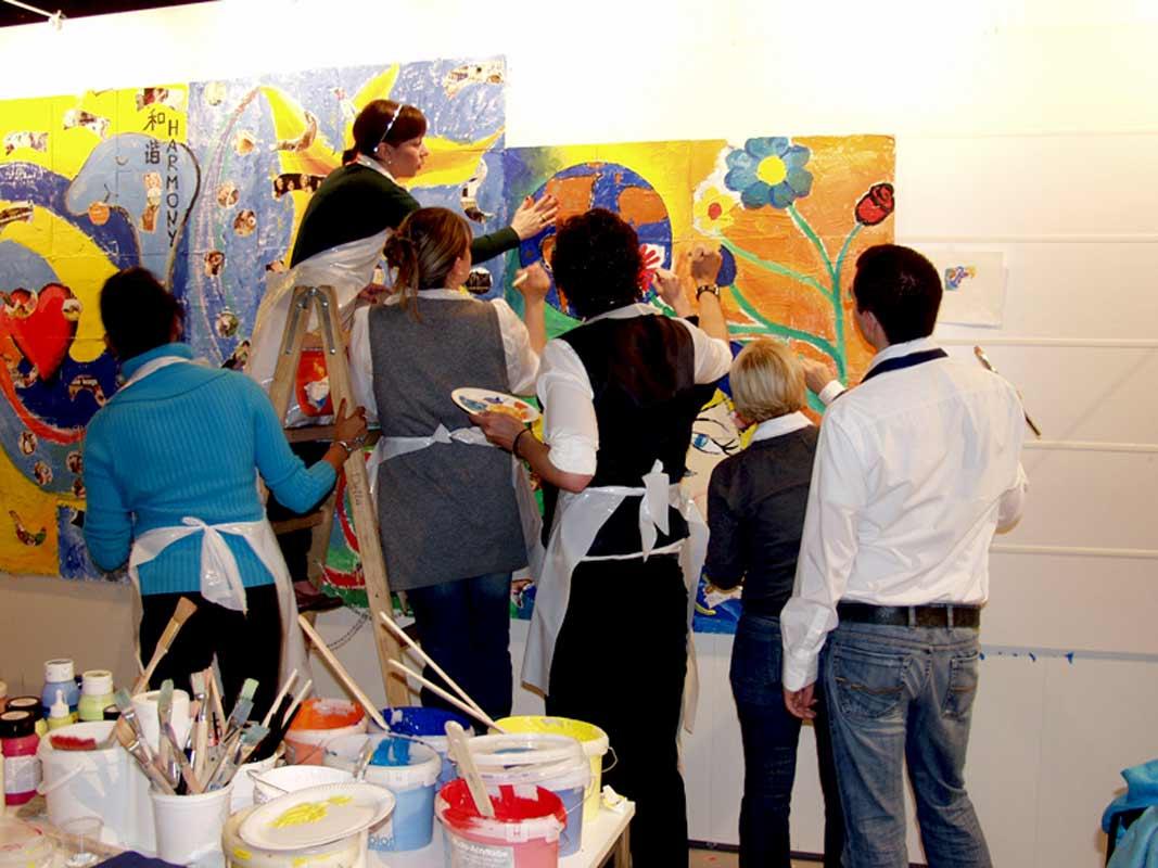 Netzwerkbild-Workshop, Teambildung, von Guido Kratz aus Hannover auf der Cabin Expo von der Lufthansa in Frankfurt Bild 04