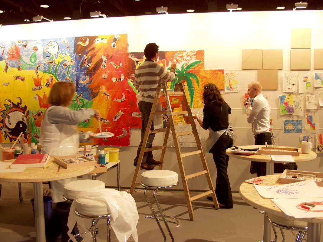 Netzwerkbild-Workshop, Teambildung, von Guido Kratz aus Hannover auf der Cabin Expo von der Lufthansa in Frankfurt Bild 11