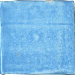 Handgefertigter Keramik-Pflasterstein hellblau von Guido Kratz aus Hannover