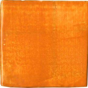 Handgefertigter Keramik-Pflasterstein orange von Guido Kratz aus Hannover