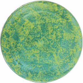 Keramik Pflasterstein zweifarbig rund grün gelb von Guido Kratz aus Hannover