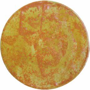 Keramik Pflasterstein zweifarbig rund orange gelb von Guido Kratz aus Hannover
