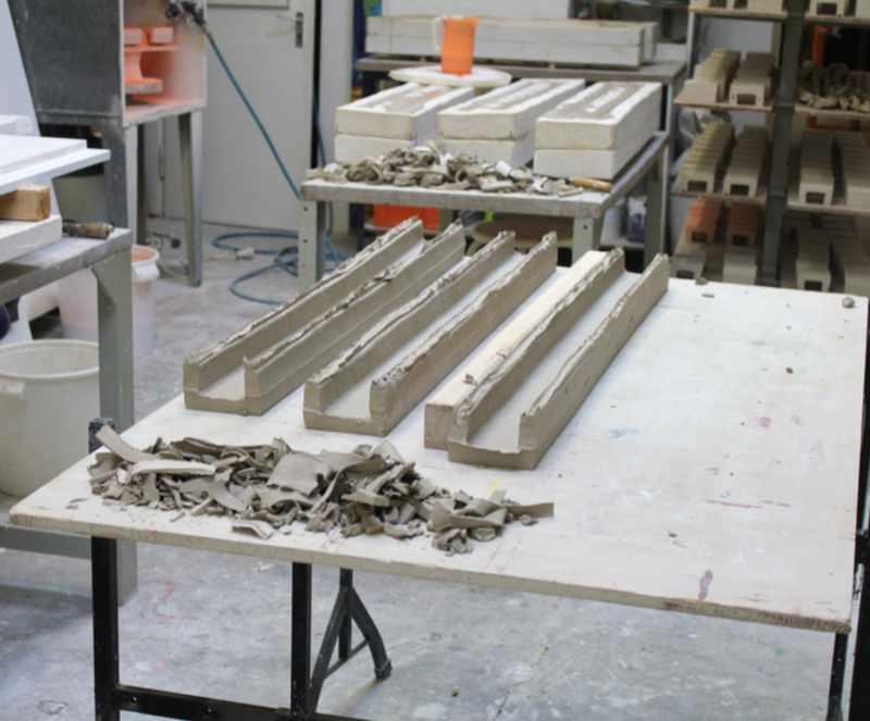 Pflasterstein Rohlinge in der Werkstatt von Guido Kratz aus Hannover