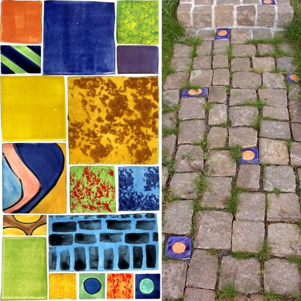Farbige Keramik-Plastersteine in vielen Größen und Farben von Guido Kratz aus Hannover