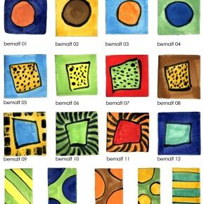 Bemalte Plastersteine aus Keramik aus Hannover von Guido Kratz