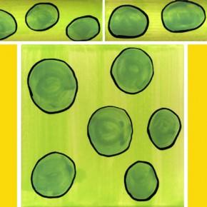 Bordüre mit passender Fliese Punkte grün 111 von Guido Kratz