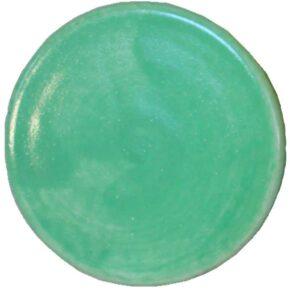 Handgefertigter runder Keramik-Pflasterstein grün von Guido Kratz aus Hannover