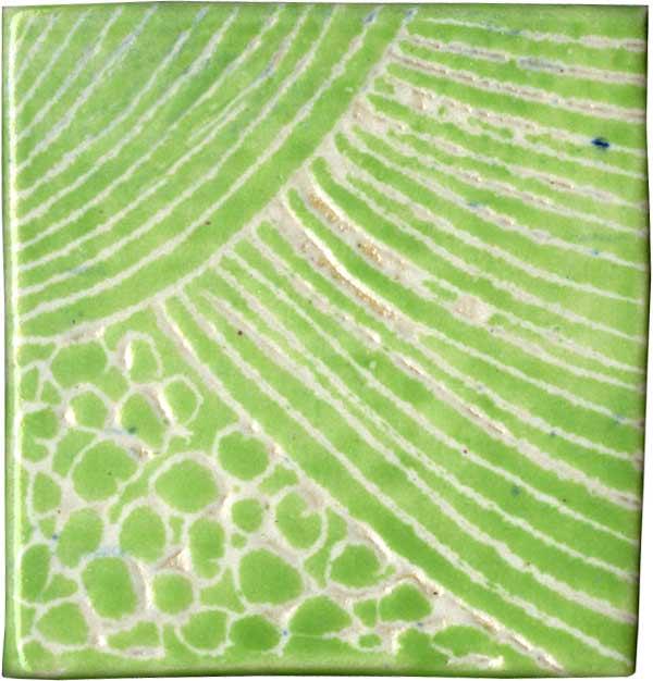 Keramik-Pflasterstein mit Sgrafittodekor von guido Kratz aus Hannover Bild 01