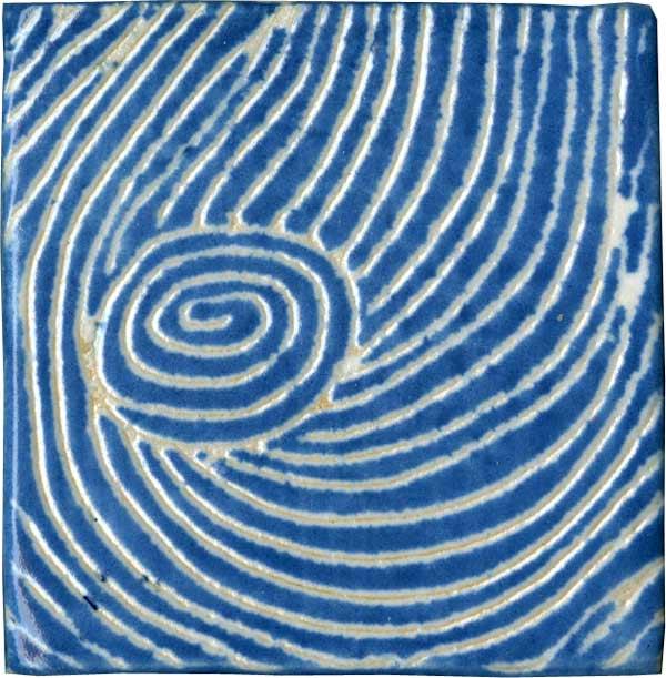 Pflastersteine Runde Muster : KeramikPflasterstein mit Sgrafittodekor von Guido Kratz aus Hannover