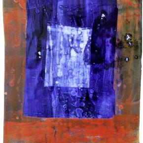 """""""Struktur 01"""", Hochtemperaturmalerei auf Keramik von Guido Kratz, Hannover, 2011"""