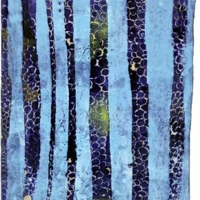 """""""Struktur 02"""", Hochtemperaturmalerei auf Keramik von Guido Kratz, Hannover, 2011"""