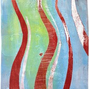 """""""Struktur 04"""", Hochtemperaturmalerei auf Keramik von Guido Kratz, Hannover, 2011"""