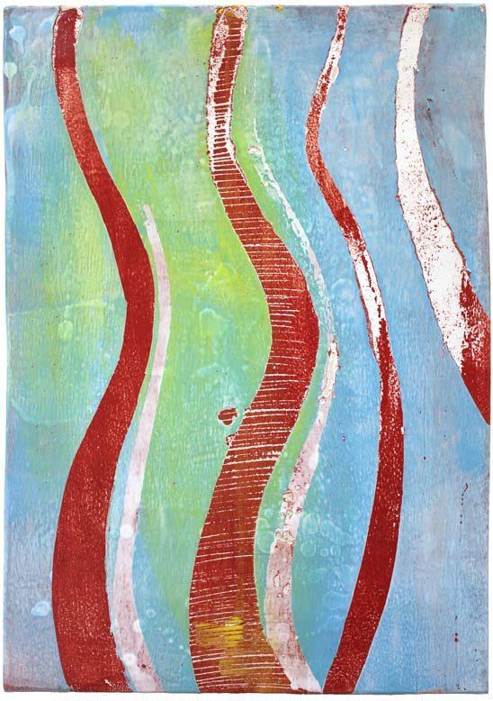 """""""Struktur 04"""", Hochtemperaturmalerei auf Keramik von Guido Kratz, Hannover,"""