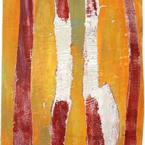 """""""Struktur 05"""", Hochtemperaturmalerei auf Keramik von Guido Kratz, Hannover, 2011"""