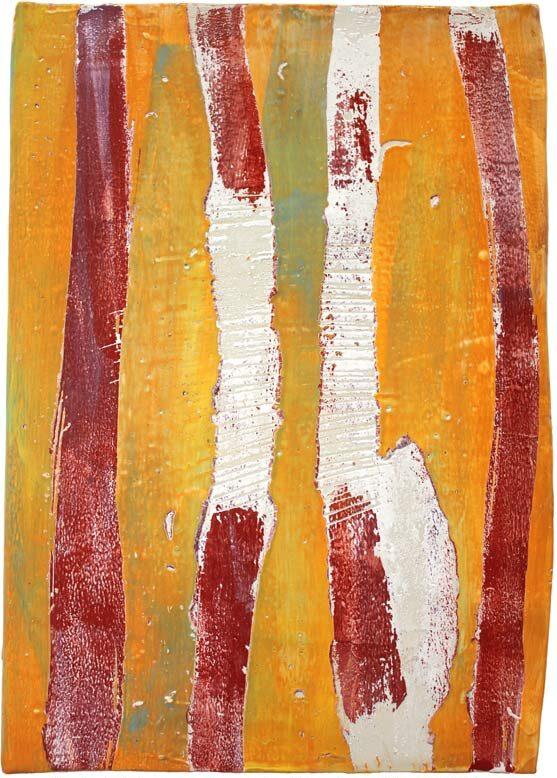 """""""Struktur 05"""", Hochtemperaturmalerei auf Keramik von Guido Kratz, Hannover,"""