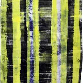 """""""Struktur 07"""", Hochtemperaturmalerei auf Keramik von Guido Kratz, Hannover, 2011"""
