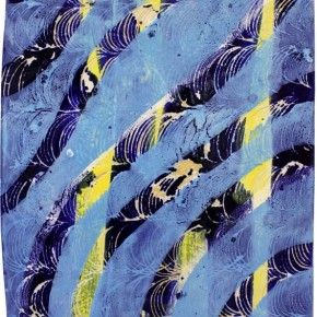 """""""Struktur 08"""", Hochtemperaturmalerei auf Keramik von Guido Kratz, Hannover, 2011"""