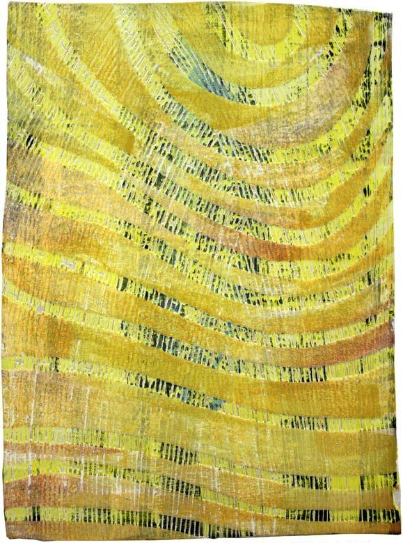 """""""Struktur 09"""", Hochtemperaturmalerei auf Keramik von Guido Kratz, Hannover,"""