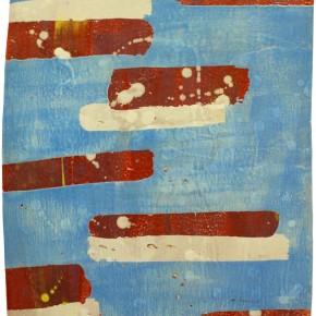 """""""Struktur 12"""", Hochtemperaturmalerei auf Keramik von Guido Kratz, Hannover, 2011"""