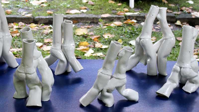 Tangoskulptur 17, Keramikskulptur von Guido Kratz aus Hannover