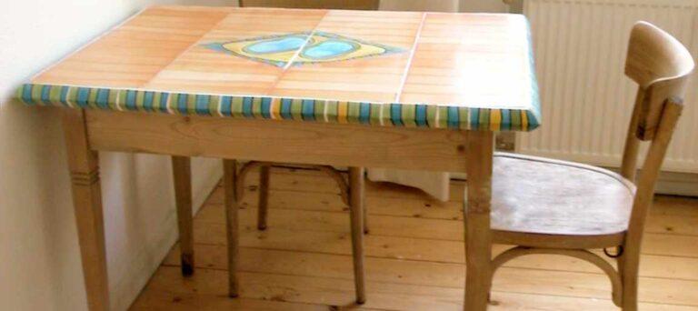Tisch mit Keramikplatte von Guido Kratz aus Hannover