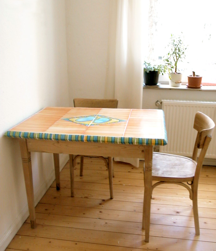 Tisch mit Keramikplatte von Guido Kratz
