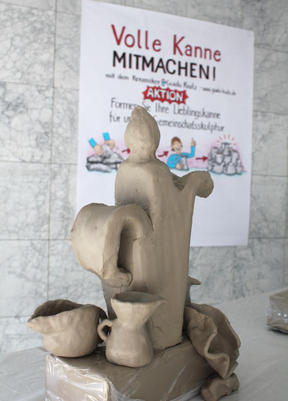 Volle Kanne 01 ein social sculpture Workshop Gemeinschaftsskulptur von Guido Kratz