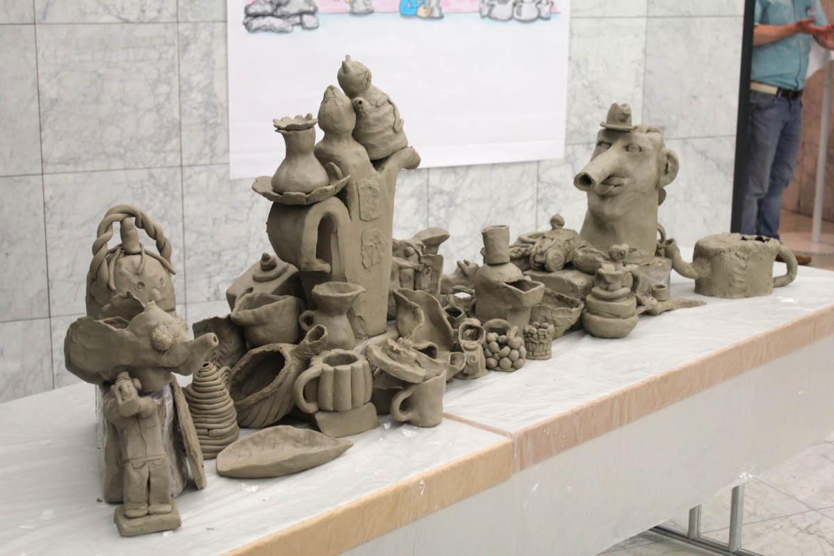Volle Kanne 08 ein social sculpture Workshop Gemeinschaftsskulptur von Guido Kratz