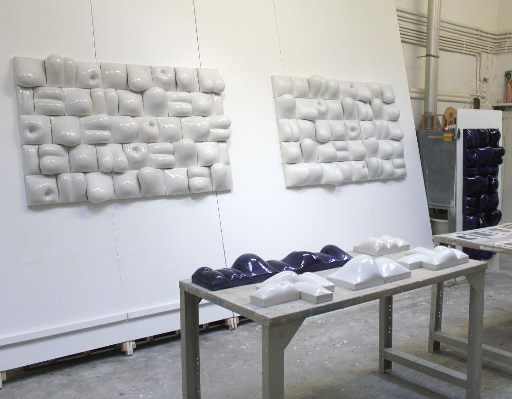 Wandrelief Keramik, Guido Kratz Hannover 15