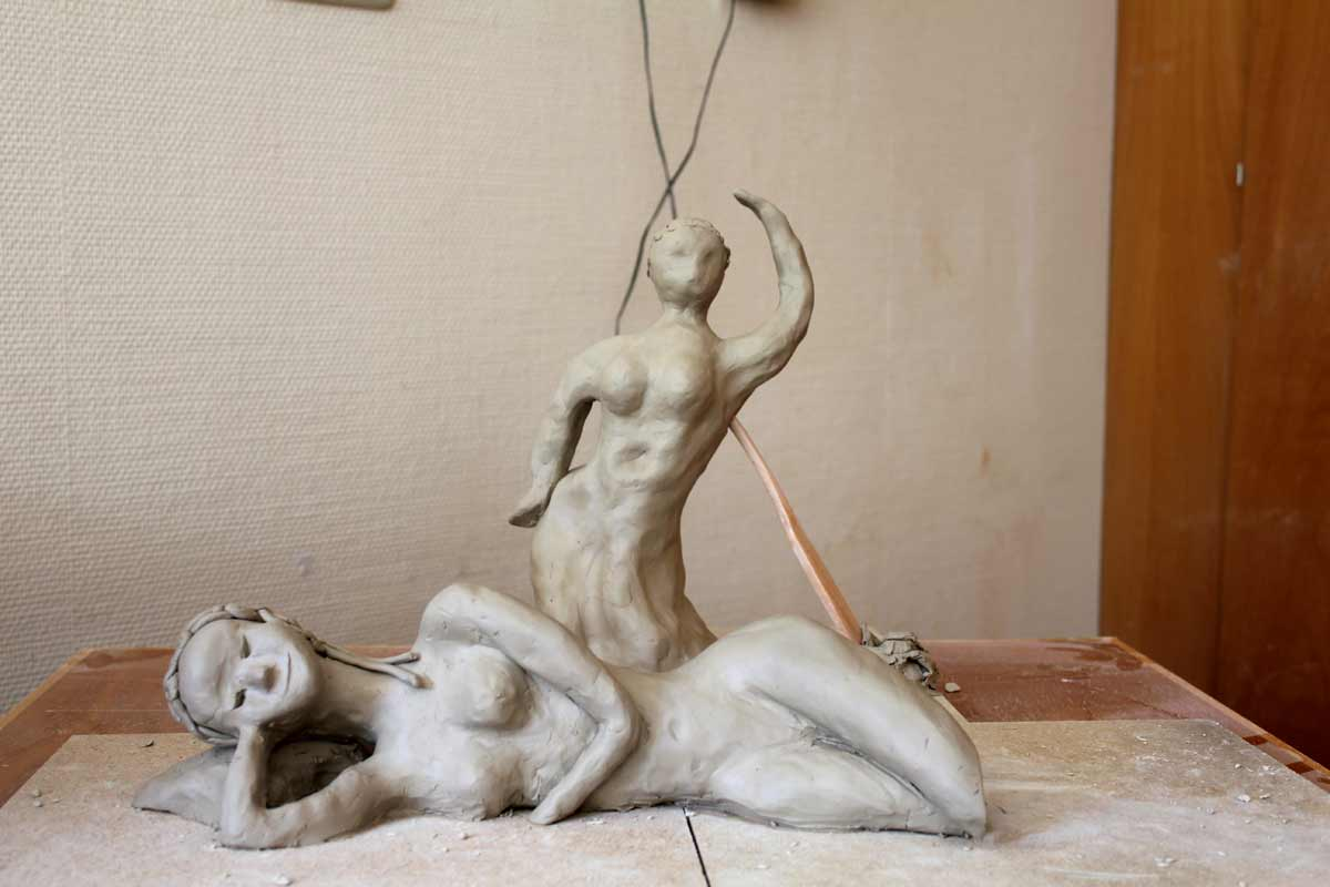 Weibsbilder, ein Skulpturen-Workshop von Guido Kratz aus Hannover, Bild 03