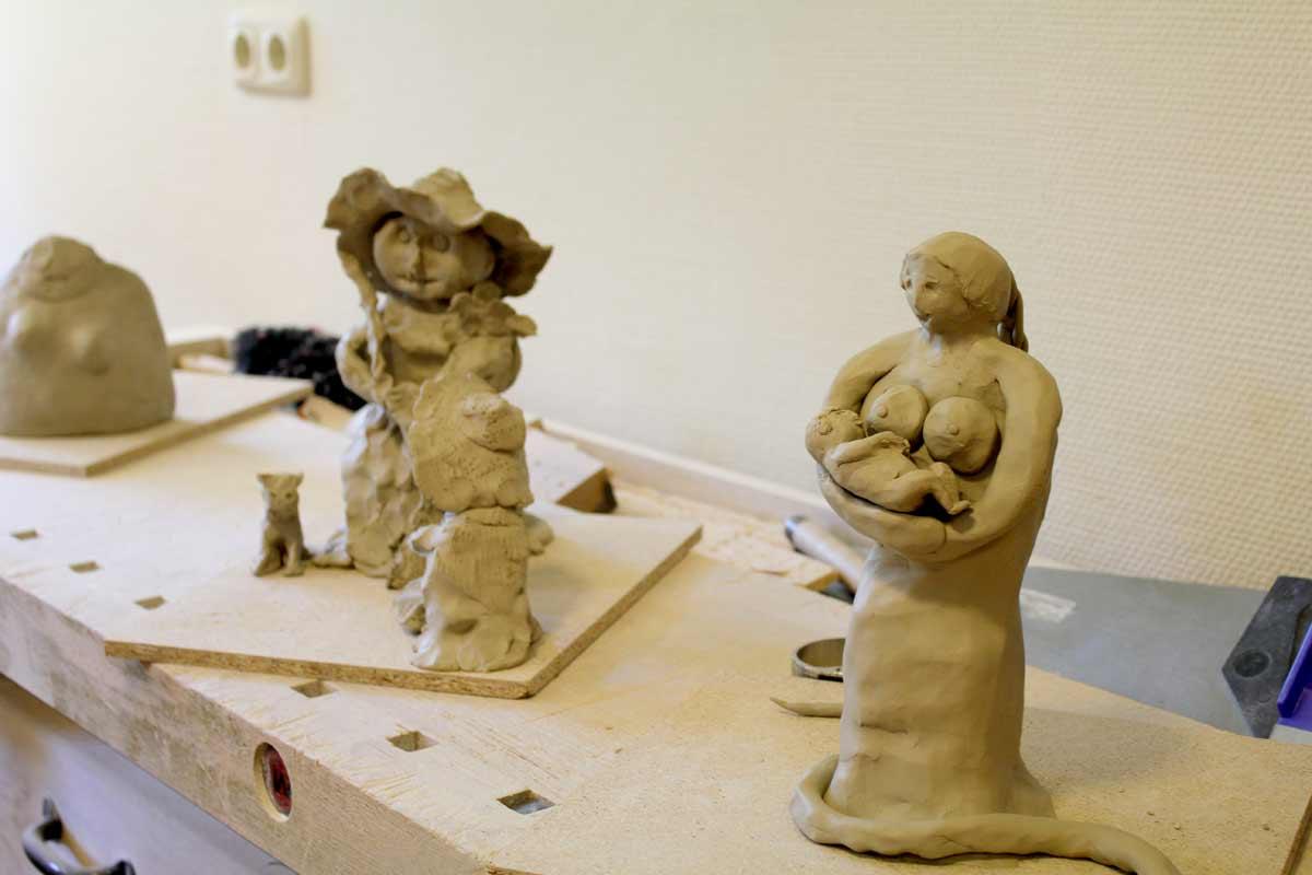 Weibsbilder, ein Skulpturen-Workshop von Guido Kratz aus Hannover, Bild 12