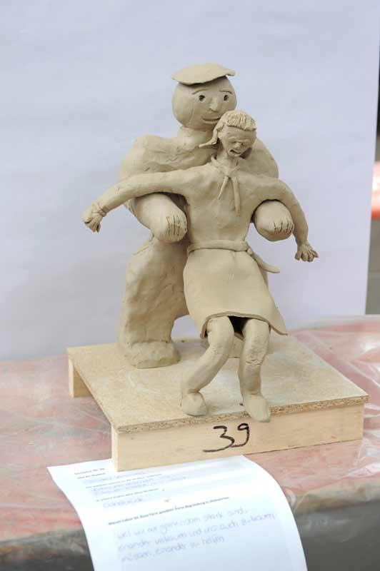 Skulpturen-Workshop mit Unternehmensleitsätzen, Teambildung, von Guido Kratz aus Hannover Bild 01