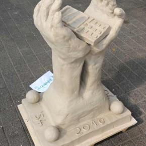 Skulpturen-Workshop mit Unternehmensleitsätzen von Guido Kratz aus Hannover Bild 02