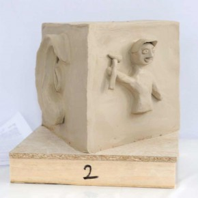 Skulpturen-Workshop mit Unternehmensleitsätzen von Guido Kratz aus Hannover Bild 03